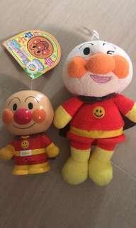 麵包超人 系列 毛公仔 發聲 膠 擺設 doll