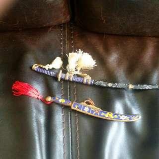 80年代景泰藍和日式開信刀共兩把