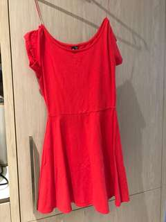 cotton on red dress xs