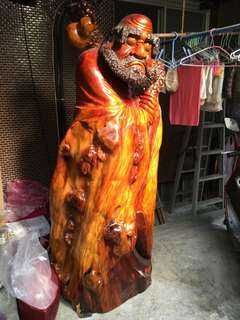達摩紅豆杉木雕