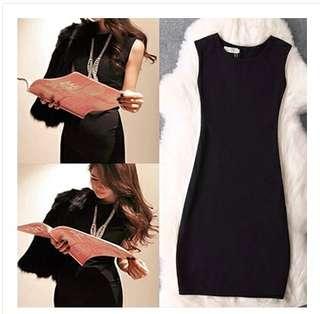 「全新」黑色緊身洋裝