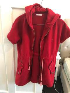 Boutique Red hooded zip up jacket