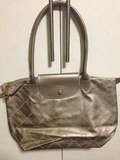 Rush sale!! Authentic Medium Silver Longchamp