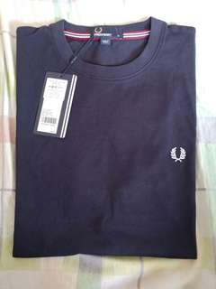 Fred Perry Crew Neck Shirt Navy