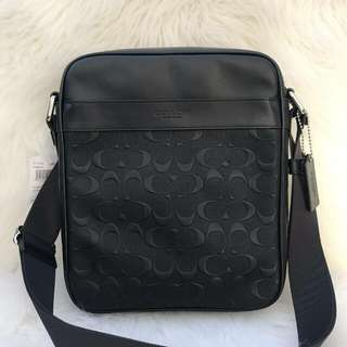 Coach Charles Flight in Signature Black