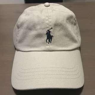 RALPH LAUREN BASEBALL CAP (LIGHT KHAKI W BLUE PONY)