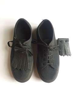 Andre Paris Black Platform Sneakers