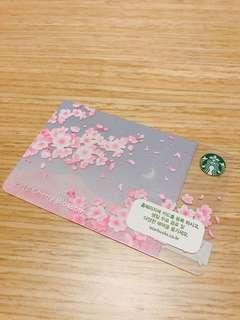 Starbucks Card 2018 cherry blossom $50/per 1