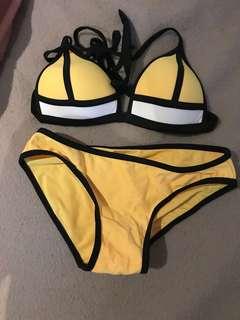 triangl bikini yellow