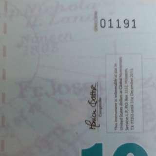 2011年 北極 10元 膠鈔 全新直版