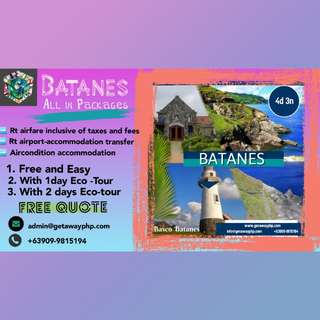 FREE QUOTATION FOR ALL IN BATANES PACKAGES
