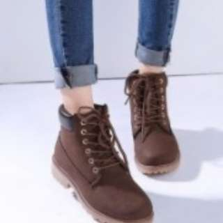 High Ankle Brown Boots