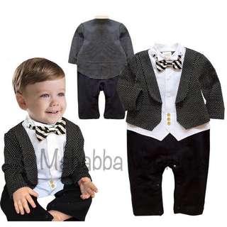 1 pieces high quality baby gentleman romper jumpsuit, flower boy