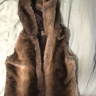 All about eve - hooded fur vest