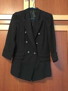 甜美時尚雙排扣外套