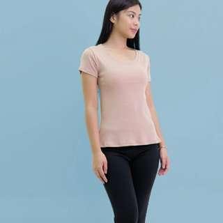Htp pink blush low neck shirt