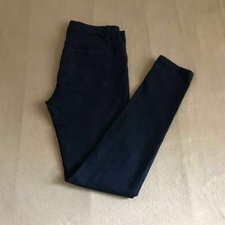 F21 navy blue denim pants