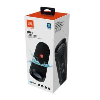 [BNIB AUTHENTIC] JBL Flip 4 (Black / Blue) Portable Bluetooth Speakers
