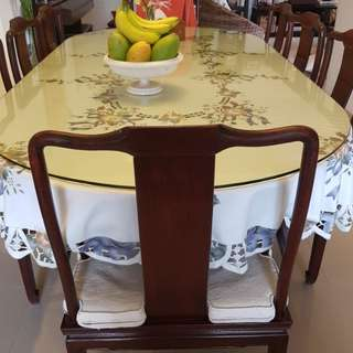 Rose Wood Dining Set  - A Character piece with hand crafted curvacious middle legs.