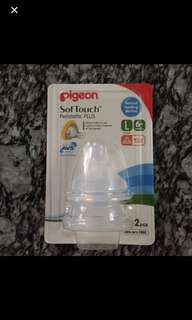 [BNIB] Pigeon SofTouch™ Peristaltic PLUS Wide-Neck Nipple Large