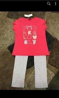 Girl set tee+legging 8y