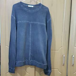 Zara 100% cotton rugged sweater or long sleeves
