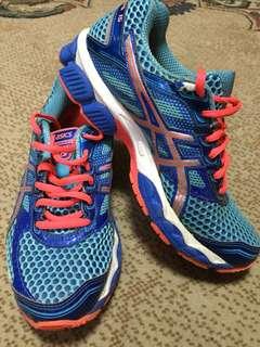 Asics GEL Cumulus 15 T3C5N Blue Coral Pink Women's Shoes Running