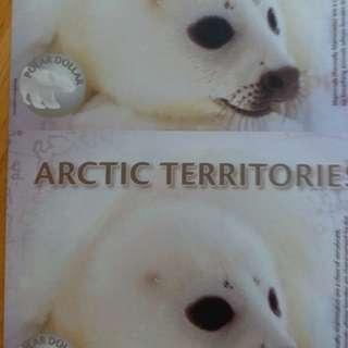 2011年 北極 2元 2連體 膠鈔 全新直版