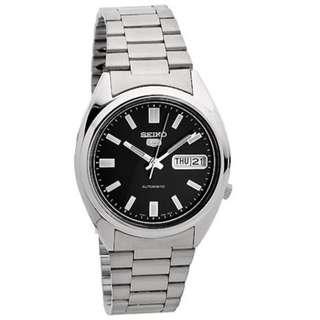 Seiko 5 Men SNXS79K1 Automatic Black Silver Jam Tangan Pria SNXS79