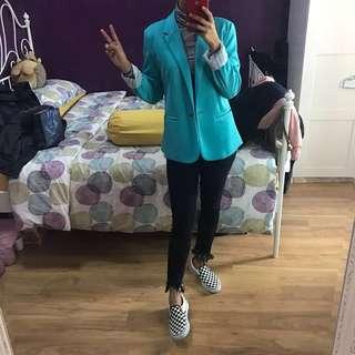Zara turquoise blazer