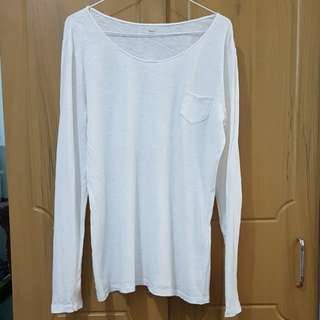 Gap 100% cotton white long sleeved top