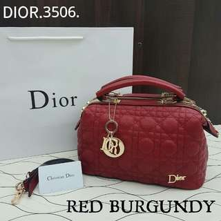 Dior Doctor Satchel Bag Red Color