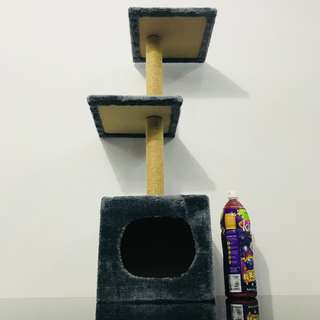 Cat scratch post pole condo tree play toy climb bed