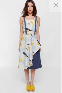 BNWT Patricia Asymmetrical Ruffle Midi Skirt
