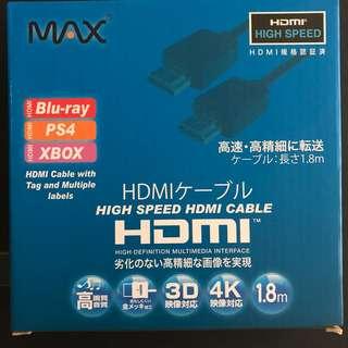 HDMI 線 全新 1.8米 高畫質