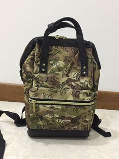 Authentic Disney Store Army print backpack