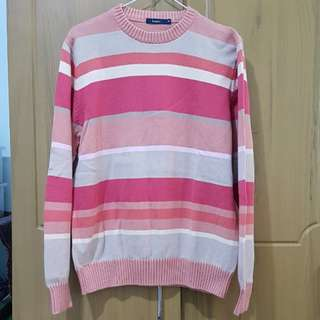 Bossini thick striped long sleeved sweater
