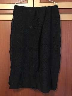 甜美時尚金蔥皺折圍巾