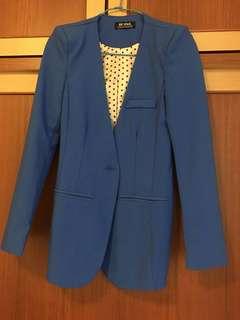 甜美氣質寶藍外套(有墊肩、超挺 )