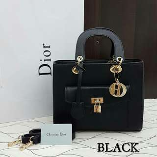Lady Dior Pocket Bag Medium Black Color