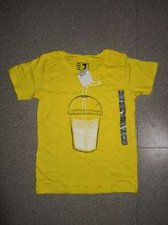 Brand New Yellow Iced Drink Boys Tee
