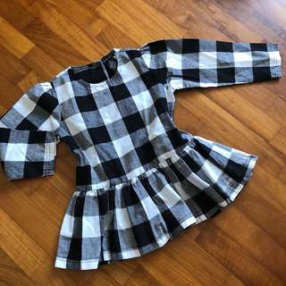 18-24M NEW Calvin Klein Jeans Checkered Gingham Tunic