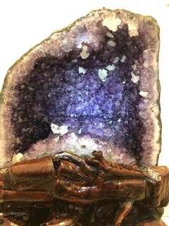 巴西紫水晶洞带钛晶 (火形) - Brazil Amethyst Cave With Titanium Crystal (Fire)
