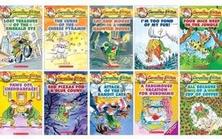 10 books Geronimo Stilton (bundle 1)