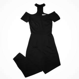Apartment 8 Choker Off-Shoulder Jumpsuit in Black