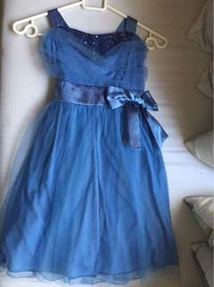 Blue formal gown for kids