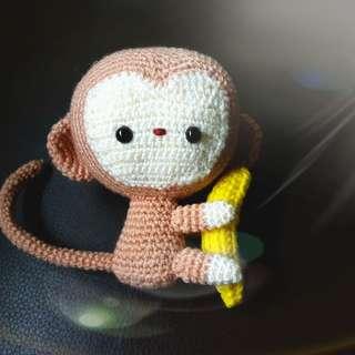 Cute arigurumi baby monkey