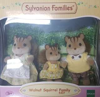 Sylvanian Families Squirrel Family of 3
