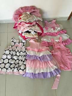 Girl Dress big bundle of abt 30 dresses for 2-4yrs old