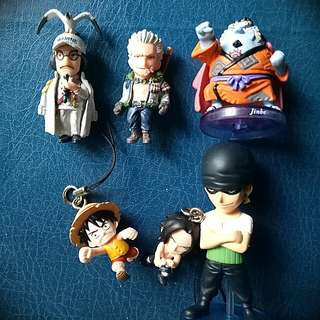 Mini One Piece Figure KeyChain